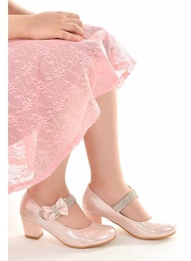 Kiko Kids Kiko 752 Vakko Günlük Kız Çocuk 4 Cm Topuk Babet Ayakkabı Pudra